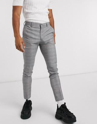 ASOS DESIGN super skinny smart trouser in check