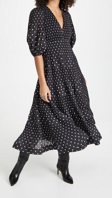 Zimmermann Pleated Long Sleeve Midi Dress