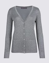 M&S Collection Glitter V-Neck Long Sleeve Cardigan