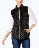 Charter Club Petite Velvet Quilted Vest, Created for Macy's