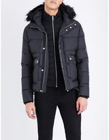 The Kooples Quilted Faux-fur And Wool-blend Jacket