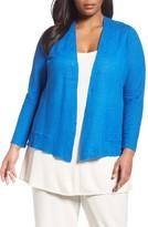 Eileen Fisher Plus Size Women's Organic Linen Open Front Cardigan