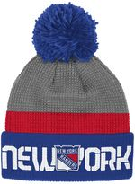 Reebok Adult New York Rangers Cuffed Pom Knit Hat