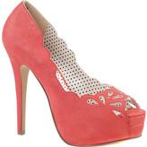Women's Pin Up Couture Bella 30 Platform Peep-Toe Pump