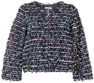 Coohem Round-Neck Tweed Jacket