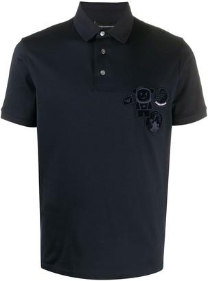 Emporio Armani Embroidered Badge Polo Shirt