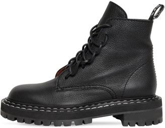 Proenza Schouler 30mm Leather Combat Boots