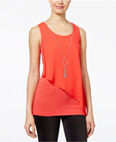 Amy Byer Juniors' Asymmetrical Necklace Top