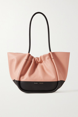 Proenza Schouler Ruched L Two-tone Leather Tote - Antique rose