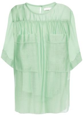 See by Chloe Gathered Woven Top