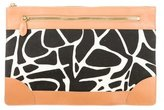 Diane von Furstenberg Canvas & Leather Clutch