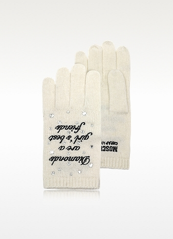 Moschino Cheap & Chic Moschino Cheap and Chic - White Wool Blend Gloves