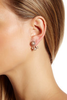 Marchesa Simulated Pearl Ear Jacket Earrings