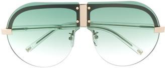 Matthew Williamson x Linda Farrow Tulip aviator sunglasses