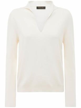 Loro Piana Cashmere & Silk Knit V Neck Sweater