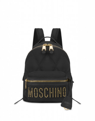 Moschino Quilted Backpack With Studs Woman Black Size U It - (one Size Us)