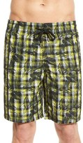 Vilebrequin Men's 'Okoa' Floral Check Print Swim Trunks