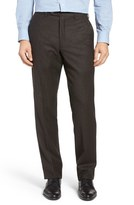 JB Britches Flat Front Solid Wool & Cashmere Trousers
