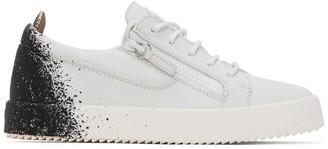 Giuseppe Zanotti White and Black Birel Sneakers