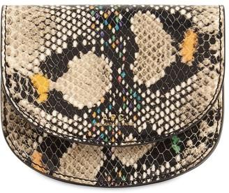 A.P.C. Geneve Python Print Leather Wallet