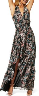 Ramy Brook Savanna Sleeveless Printed Maxi Dress
