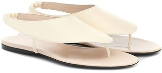 The Row Ravello leather thong sandals
