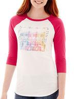 Barbie Modern Lux Raglan-Sleeve Sequin Graphic T-Shirt