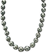 Belle de Mer Pearl Necklace, 14k Gold Cultured Tahitian Pearl Strand (9-10mm)