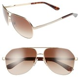 Dolce & Gabbana Women's 61Mm Aviator Sunglasses - Gold