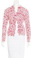 Burberry Floral Ruffle-Trimmed Cardigan