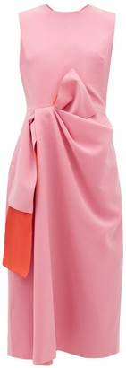 Roksanda Carina Bow-waist Cady Midi Dress - Light Pink