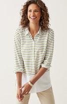 J. Jill Placed-Stripes Shirt
