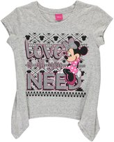 """Disney Minnie Mouse Big Girls' """"LOVE is all you NEED"""" T-Shirt"""