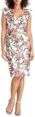 Rachel Roy Lydia Floral Lace Sheath Dress