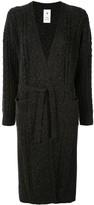 Puma Maison Yasuhiro cable-knit long cardi-coat