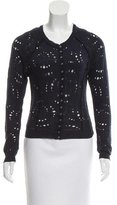 Nina Ricci Distressed Rib Knit Cardigan