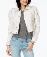 Hudson Garrison Cotton Ripped Denim Jacket