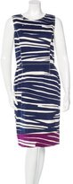 Oscar de la Renta Abstract Print Sheath Dress