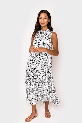 Gibson The Miller Affect High Neck Tiered Midi Dress