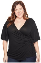 Kiyonna Hope Cinch Top Women's Short Sleeve Pullover