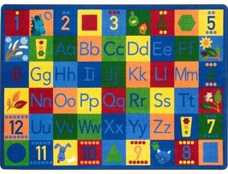 "Joy Carpets Around the Block II Rug Size: Rectangle 7'8"" x 10'9"""