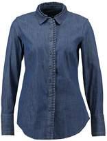 Banana Republic LS RILEY PLEATED COLLAR Shirt medium wash
