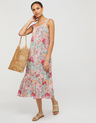 Under Armour Tenley Paisley Sundress in LENZING ECOVERO Red