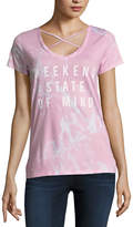 Fifth Sun Short Sleeve Weekend State of Mind Graphic T-Shirt- Juniors