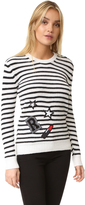 Rebecca Minkoff Prim Stripe Sweater with Patches