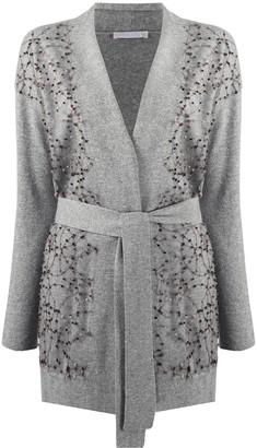 Fabiana Filippi Belted Embroidered Cardigan