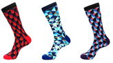 Jared Lang Geometric Cotton Mid-Calf Socks (3 PK)