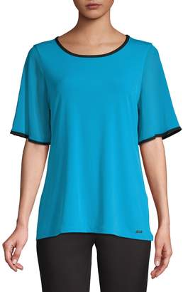 Calvin Klein Short-Sleeve Stretch Top