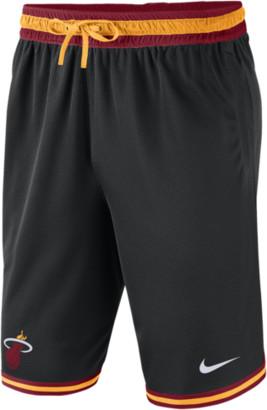 Nike NBA DNA Mesh Shorts - Miami Heat - Black / Tough Red Sundial
