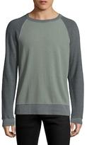 Save Khaki Colorblock French Terry Cotton Sweatshirt